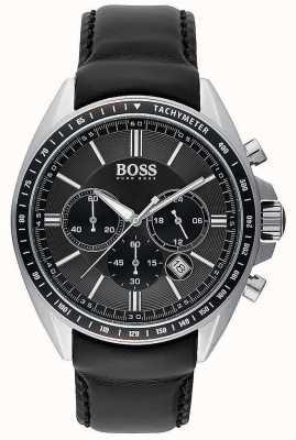 Hugo Boss Cronografo in pelle nera da uomo sportivo 1513085