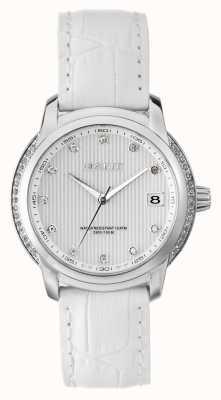 GANT Quadrante bianco cinturino in cuoio bianco W10714