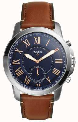 Fossil Q concede ibridi smartwatch in pelle marrone chiaro FTW1122