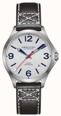 Hamilton Cuoio nero Khaki 38mm nero H76225751