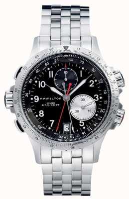 Hamilton Aviation eto chrono quarzo acciaio inossidabile H77612133