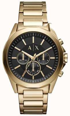 Armani Exchange Quadrante nero in acciaio inox cronografo uomo AX2611
