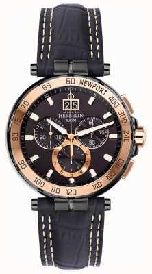 Michel Herbelin Mens newport yacht club cronografo nera cinghia quadrante nero 36656/TR14