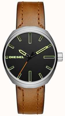 Diesel Cinturino in pelle marrone DZ1831