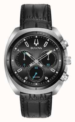 Bulova | curv | uomo | cronografo | cinturino in pelle nera | 98A155