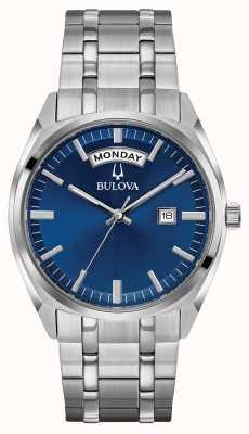 Bulova Quadrante blu classico del braccialetto dell'acciaio inossidabile del Mens 96C125