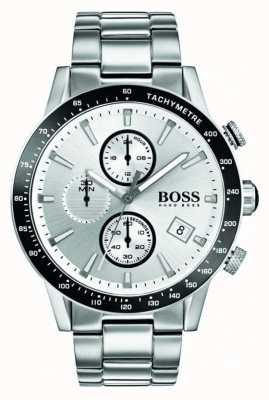 Hugo Boss Quadrante bianco cronografo a scomparsa uomo 1513511