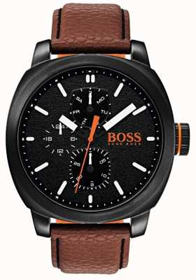 Hugo Boss Orange Quadrante nero della vigilanza del capetown dell'uomo 1550028