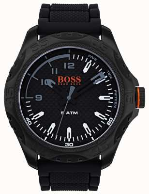 Hugo Boss Orange Orologio da uomo honolulu in gomma nera 1550032