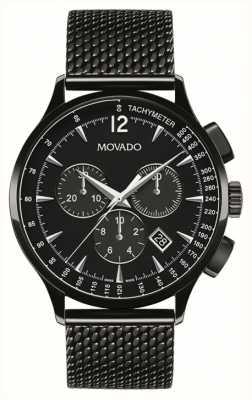 Movado Mens circa cronografo nero ione placcato 0606804