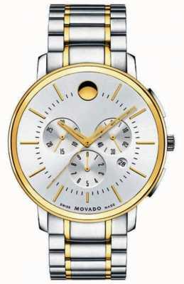 Movado Cronografo classico sottile di due toni 0606887