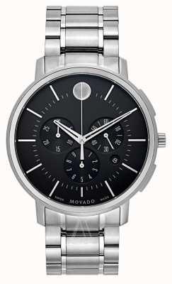 Movado Cronografo classico nero sottile da uomo 0606886
