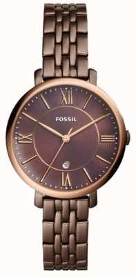 Fossil Orologio in acciaio inossidabile marrone Womans jacqueline ES4275
