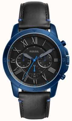 Fossil Il cronografo per la borsa degli uomini è nero e blu FS5342