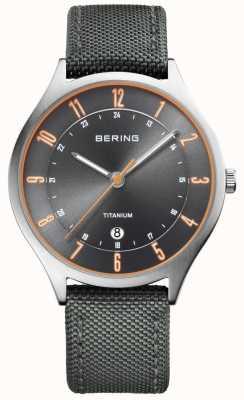 Bering Grigio in titanio ultra leggero nylon in nylon 11739-879