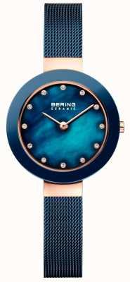 Bering Cinghia milanese blu in ceramica Womans 11429-367