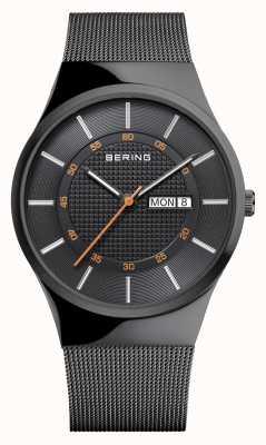 Bering Braccialetto classico multifunzionale nero della maglia del Mens 12939-222