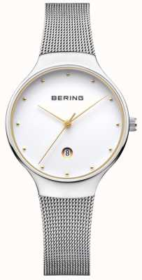 Bering Cinturino milanese d'argento silver date Womans 13326-001