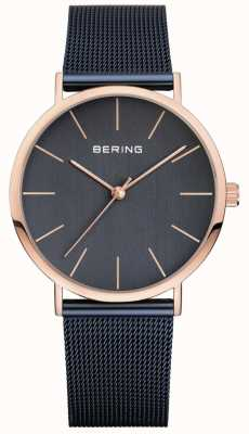 Bering Cinturino milanese classico da uomo navy 13436-367