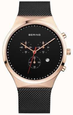 Bering Cinturino milanese nero nero cronografo nero 14740-166