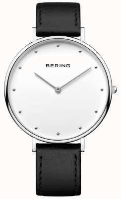 Bering Orologio classico unisex cinturino in pelle nera 14839-404