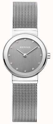 Bering Quadrante grigio Womans classico argentato milanese 10126-309