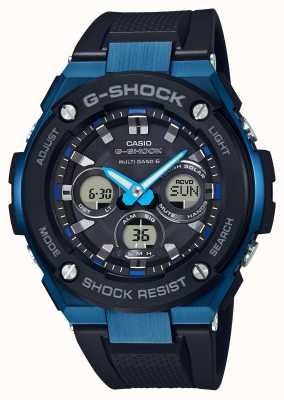 Casio Uomo g-shock g-acciaio duro azzurro solare GST-W300G-1A2ER