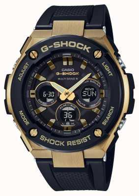Casio Uomo orologio solare duro di g-acciaio inossidabile da uomo GST-W300G-1A9ER