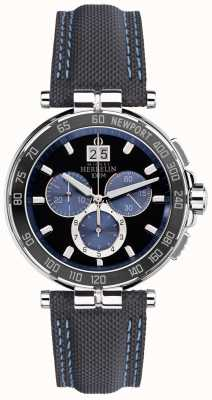 Michel Herbelin Mens newport yacht club, nero, blu 36656/AN65