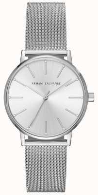 Armani Exchange Braccialetto in maglia in acciaio inossidabile Womans AX5535