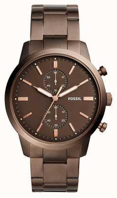 Fossil Cronografo marrone da uomo FS5347