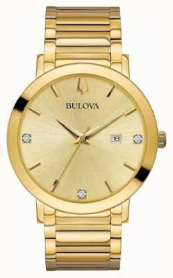 Bulova L'orologio del diamante ha regolato l'orologio del tono dell'oro 97D115