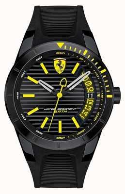 Scuderia Ferrari Vigilanza in cinturino in silicone nero redrev 0830426