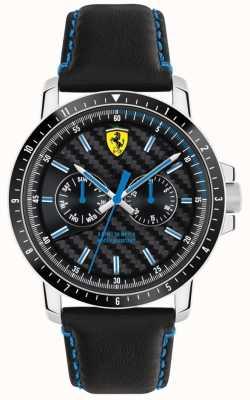 Scuderia Ferrari Cinghia in pelle Turbo nera 0830448