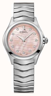 EBEL Womens wave diamond set quadrante rosa 1216268