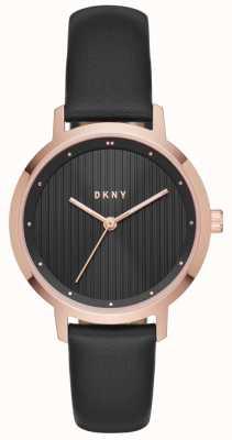 DKNY Womans oro rosa nero modernista NY2641