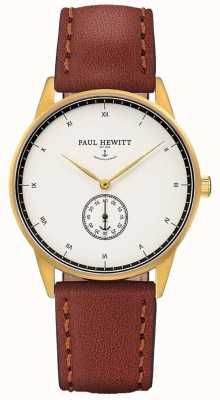 Paul Hewitt Cinturino in pelle marrone firma unisex PH-M1-G-W-1M