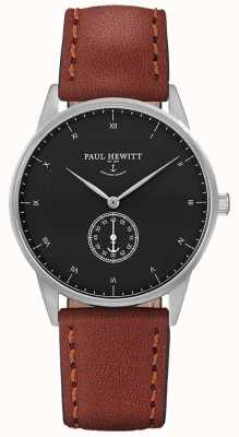 Paul Hewitt Cinturino in pelle marrone firma unisex PH-M1-S-B-1M