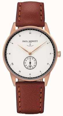 Paul Hewitt Cinturino in pelle marrone firma unisex PH-M1-R-W-1M