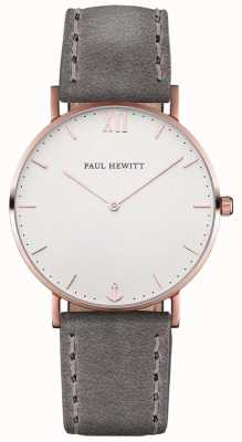Paul Hewitt Cinturino in pelle grigio marinaio unisex PH-SA-R-ST-W-13M