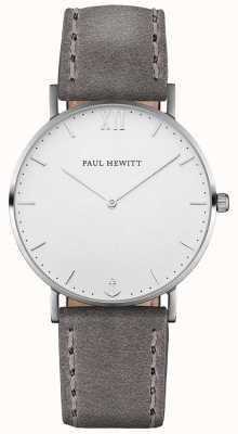 Paul Hewitt Cinturino in pelle grigio marinaio unisex PH-SA-S-ST-W-13M
