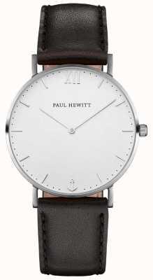 Paul Hewitt Cinturino in pelle nera da navigazione unisex PH-SA-S-SM-W-2M