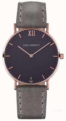 Paul Hewitt Cinturino in pelle grigio marinaio unisex PH-SA-R-ST-B-13M