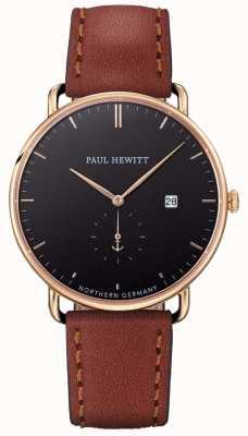 Paul Hewitt Mens la cinghia di cuoio marrone atlantica grande PH-TGA-G-B-1M