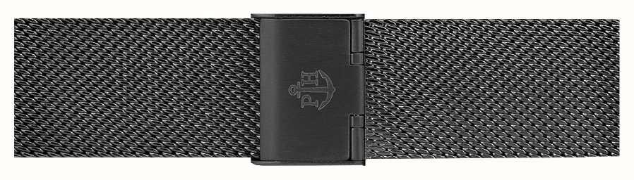 Paul Hewitt Bracciale in maglia di acciaio inossidabile nero 186mm PH-M1-G-5M