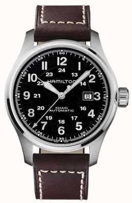 Hamilton Cuoio marrone in pelle Khaki 44mm marrone H70625533