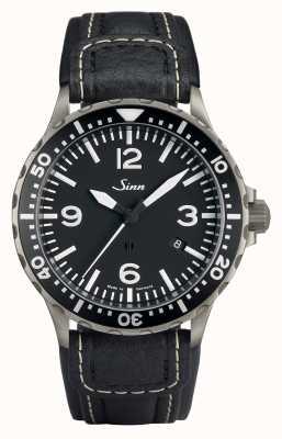 Sinn 857 cinturino pilota antimagnetico nero cronografo lunghezza standard 857.012