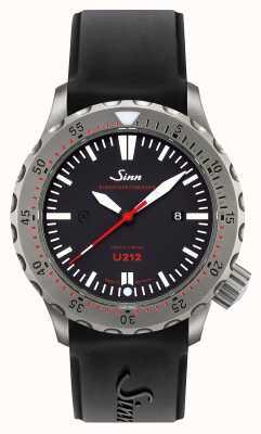 Sinn U212 ezm 16 timer di missione cinghia in silicone nero in acciaio inox 212.040