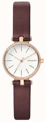 Skagen Orologio da polso in pelle marrone firmatur womens SKW2641