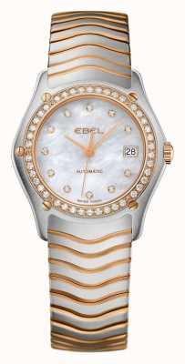 EBEL Womens wave diamond set orologio automatico bicolore 1215928
